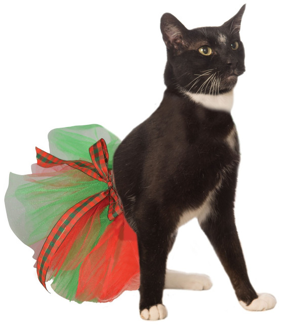Christmas Pet Festive Tutu in Red and Green
