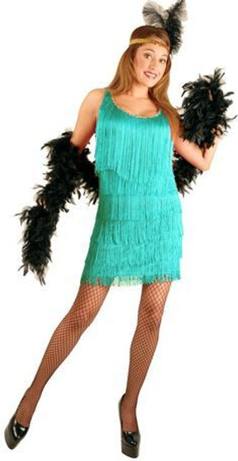 20s Aqua Fashion Flapper Ladies Plus Costume