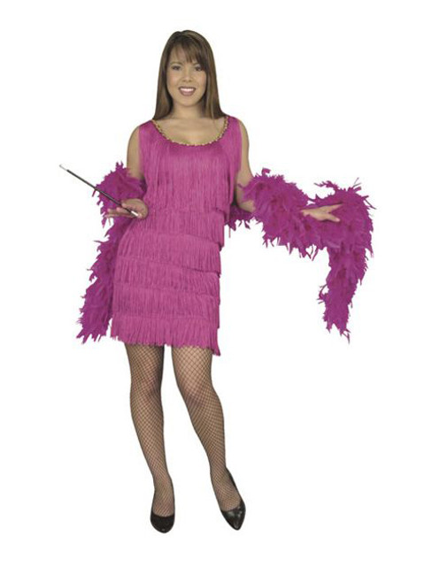 20s Fuchsia Fashion Flapper Dress Ladies Plus