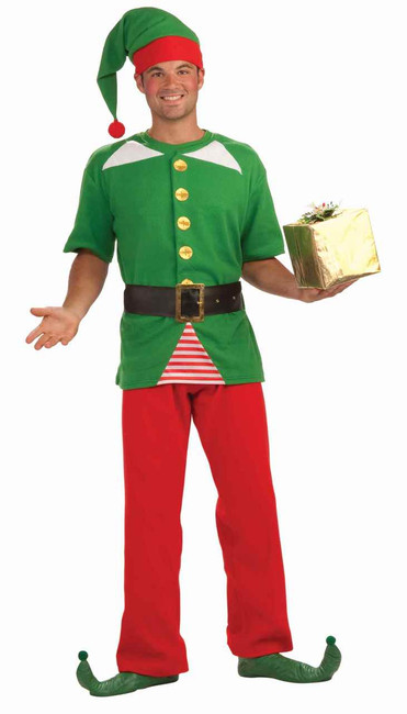 Unisex Jolly Christmas Elf Costume