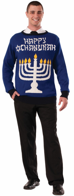 Chanukah Haukkah Menorah Sweater