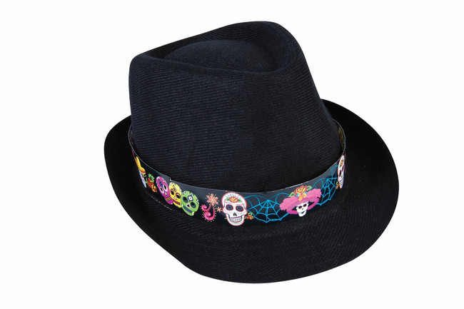 Day of the Dead Fedora Hat