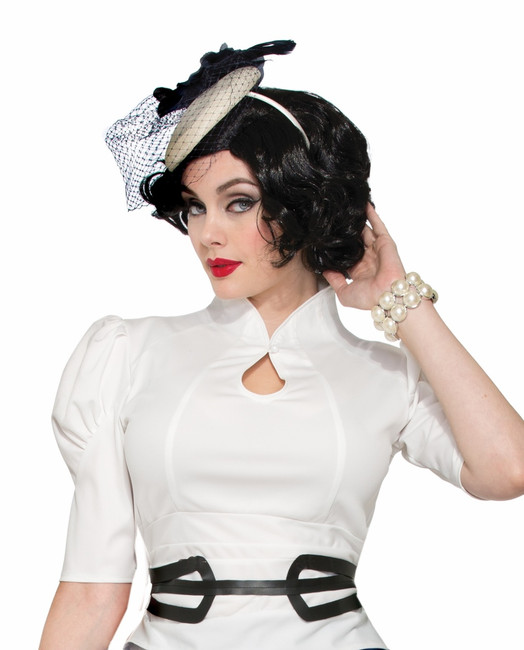 40s Fascinator with Headband and Veil