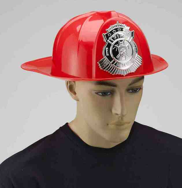 Adult Red Fireman Helmet