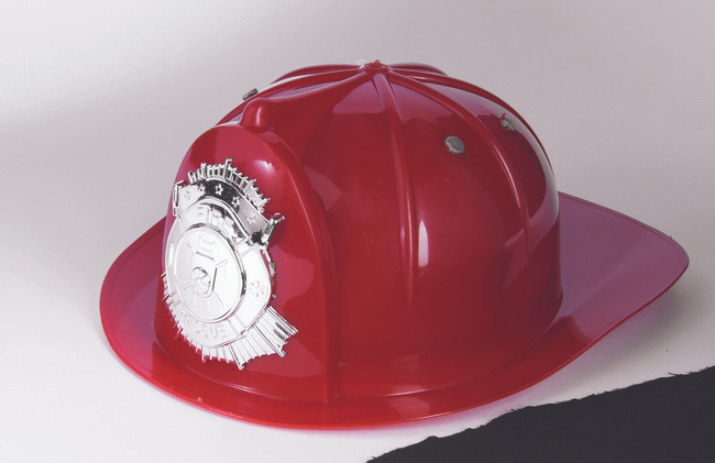 Childs Red Fireman Helmet