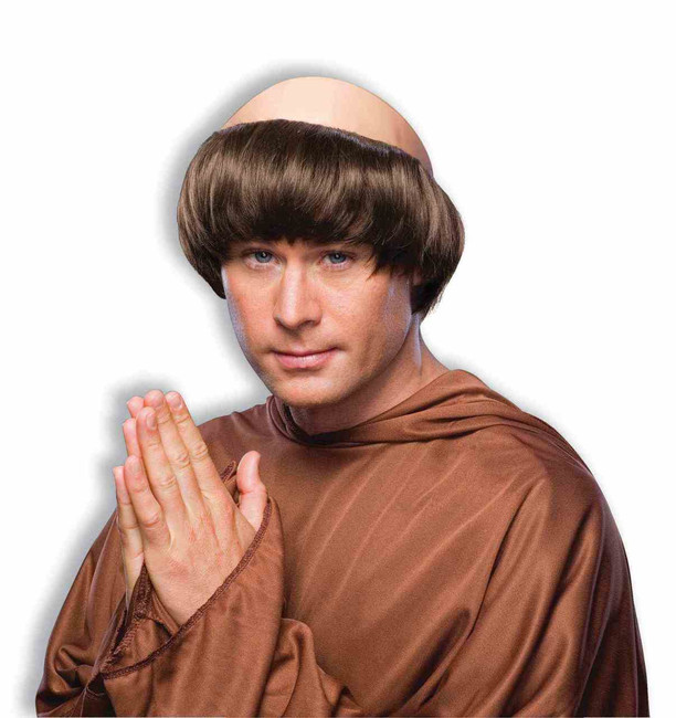 Brown Monk Wig