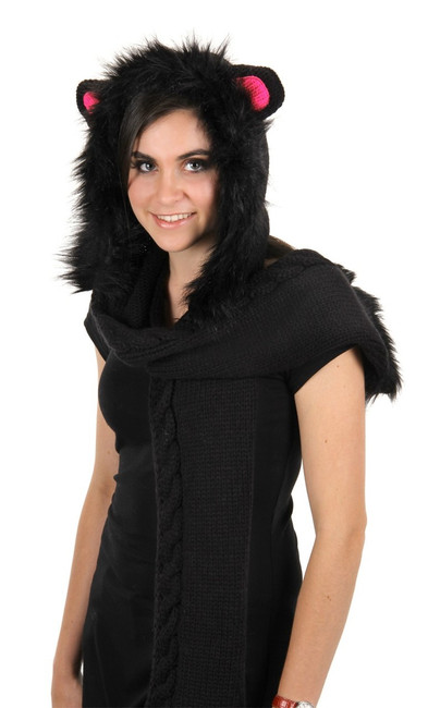 Adorable Cat Knitted Hood Hat
