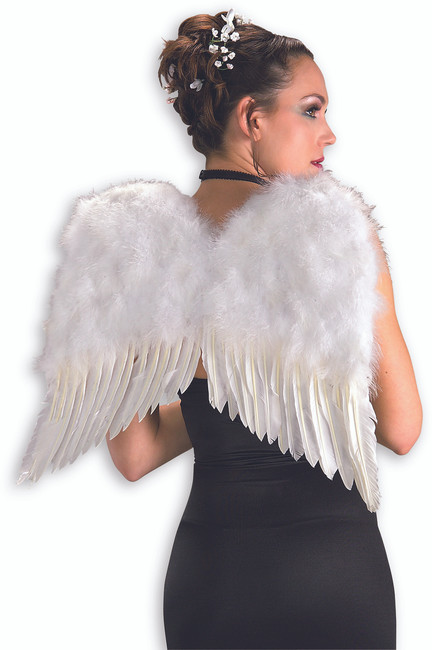 Deluxe White Feather Wings
