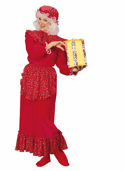 Traditional Mrs. Claus Ruffle Costume