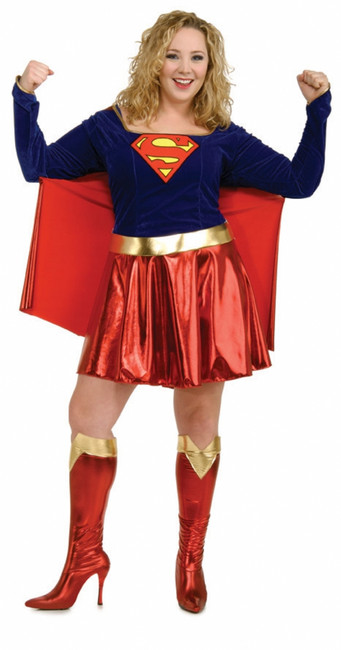 Supergirl Plus Size Halloween Costume