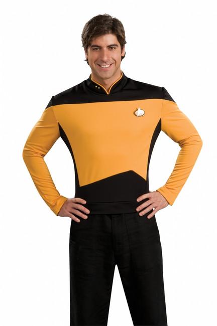 Star Trek The Next Generation Gold Shirt Costume