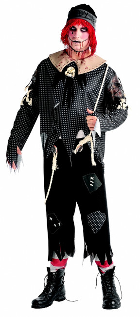 Men's Creepy Rag Doll Boy Costume