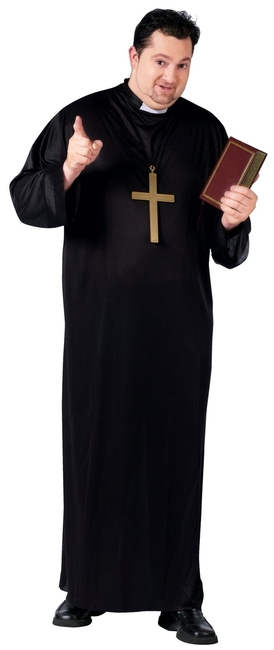 Adult Plus Priest Halloween Costume