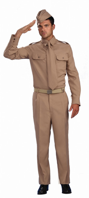 WWII Private Soldier Men's Uniform Costume