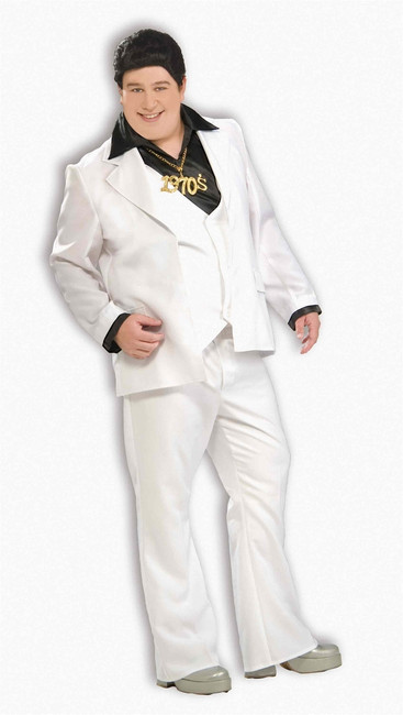Men's Plus Sized 70s Disco Fever Outfit