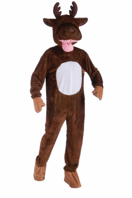 Moose Mascot Plush Costume