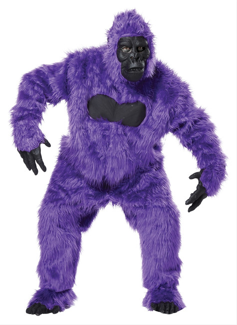 Neon Purple Gorilla Mascot Suit