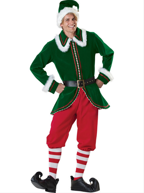 Deluxe Santa's Elf Holiday Costume