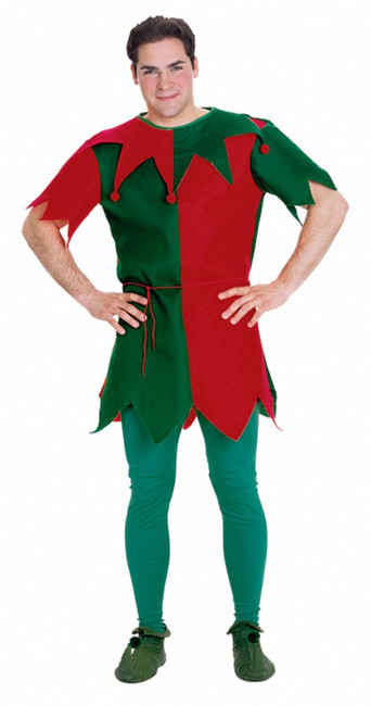 Economy Christmas Elf Tunic Costume