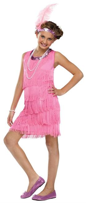 1920s Pink Flapper Kids Costume