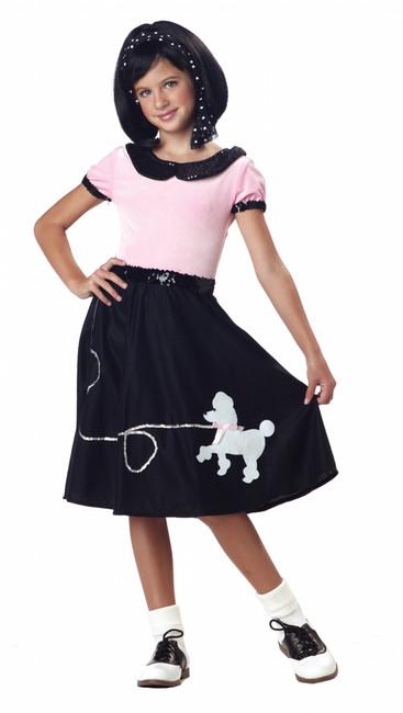 50s Hop Girls Poodle Skirt Costume