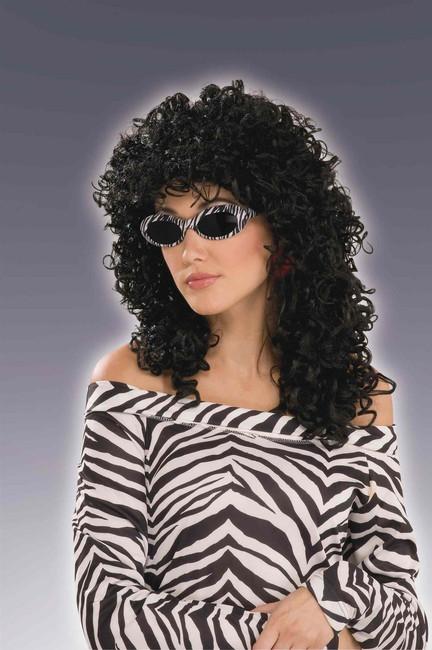 80s Wild Curl Wig Black Wig