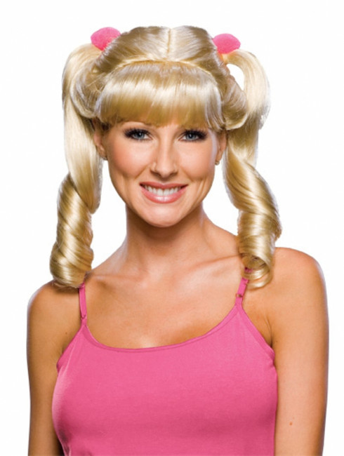 Cheerleader Blond Ponytails Wig