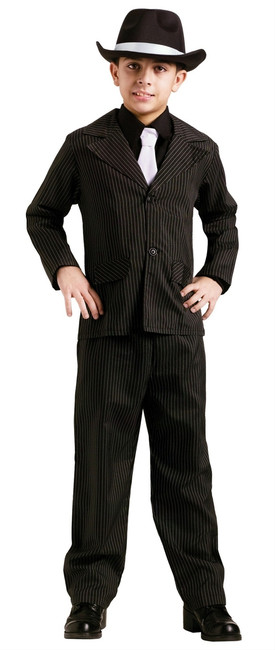 Boys Pinstripe Gangster Suit 20s Costume