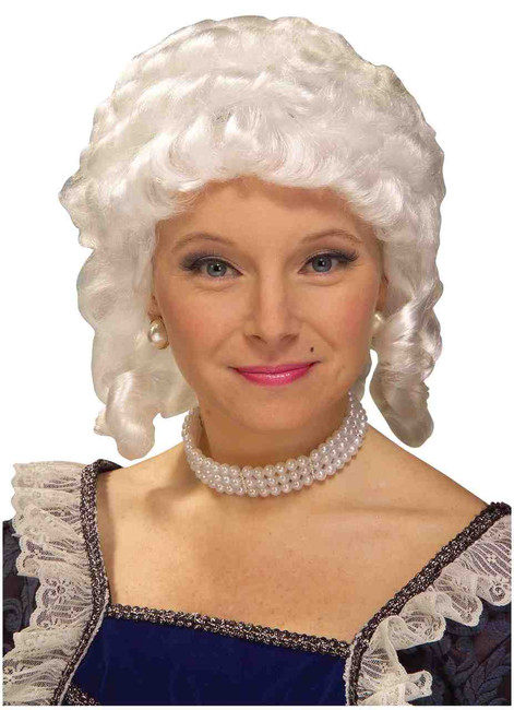 18th Century Mrs Claus Colonial Wig