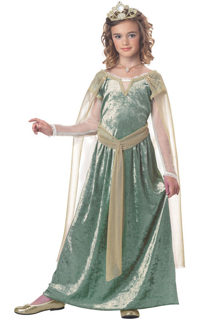 Queen Guinevere Medieval Girls Costume