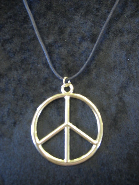 Gold Hippie Peace Sign