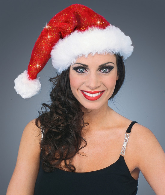 Sparkling Red Santa Hat