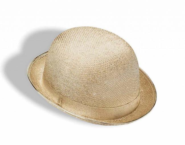 Gold Glitter Bowler Hat