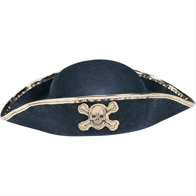 Black and Gold Durashape Pirate Hat