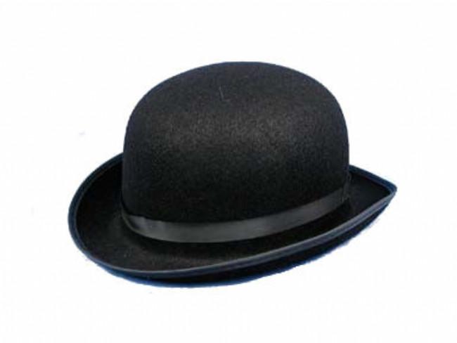 Black Felt Derby Costume Cowboy Hat