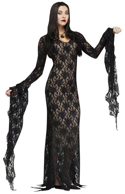 Lace Morticia Addams Family Halloween Costume
