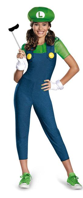 Luigi Girls Nintendo Hallowen Costume