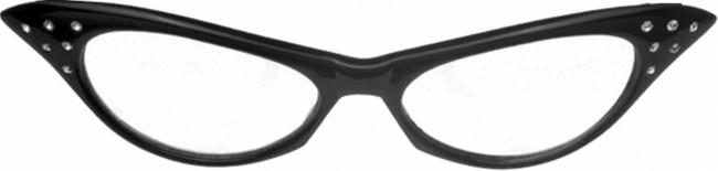50S Cat Eye Rhinestone Glasses