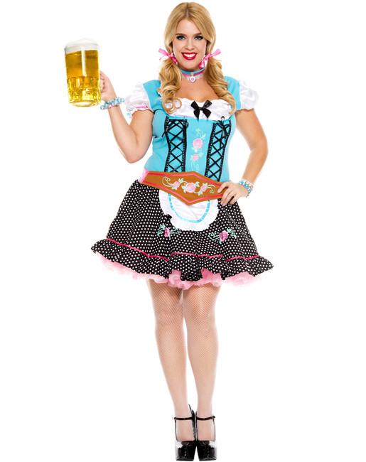 Miss Oktoberfest Plus Sized Ladies Costume
