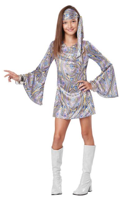 70s Disco Darling Kids Gogo Costume