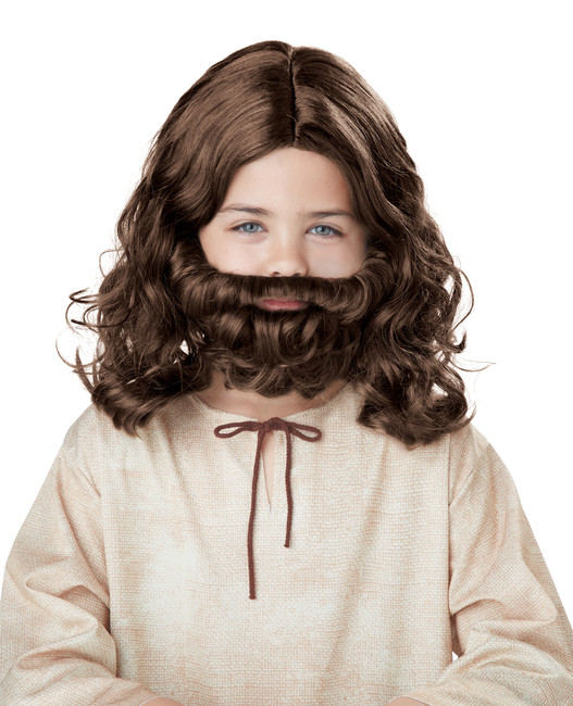 Child Jesus Wig & Beard Set