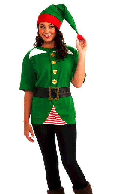 Adult Unisex Jolly Elf Costume Kit