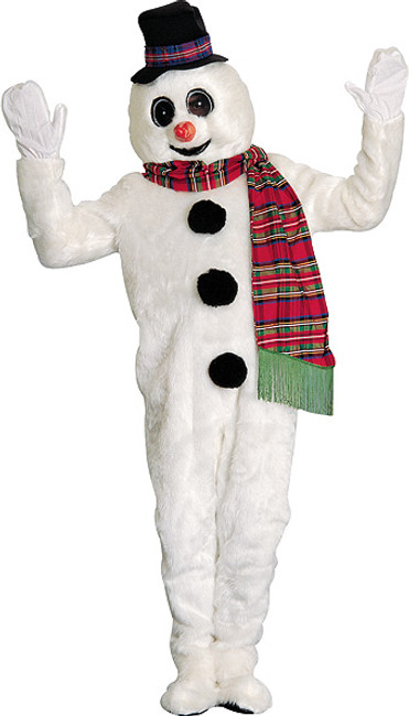 Winter Willie Professional Snowman Mascot Costume