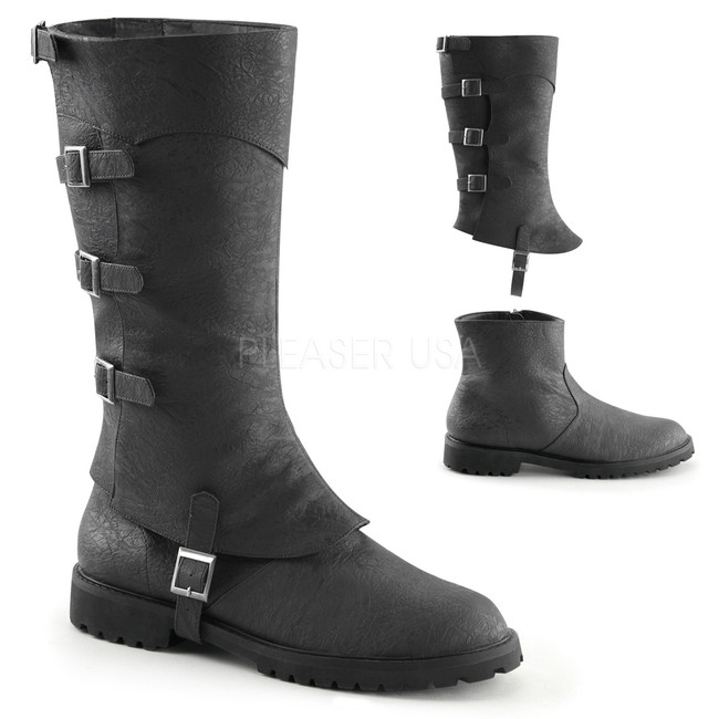 Men's 19th Century Boots with Spat Covering