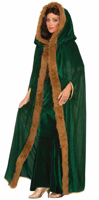 Faux Fur Trimmed Medieval Cape