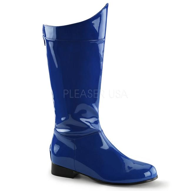 Men's Blue Superhero Boots