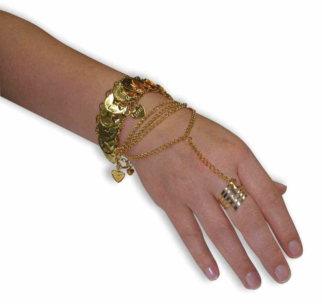 Gypsy Coin Hand Bracelet