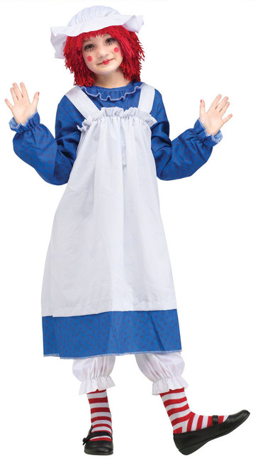 Girls Raggedy Ann Ragdoll Costume