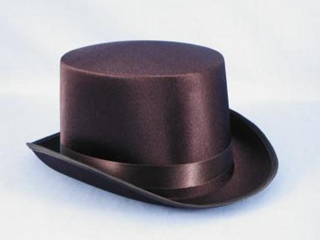 Black Satin Top Hat