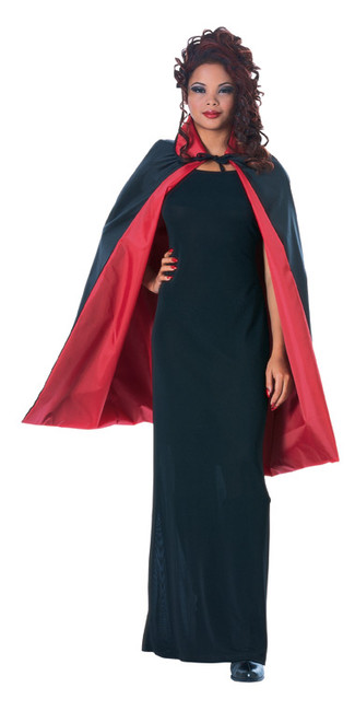 Unisex Red and Black Reversible Short Cape